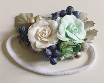 Floral baby headband