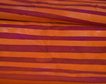 two stripes hand dyed fabric