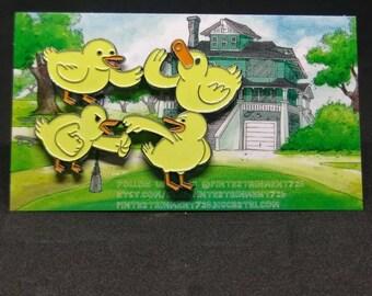 A Bunch of Baby Ducks soft enamel pin - Regular Show inspired pin
