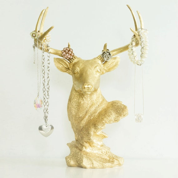 Deer Necklace Rack Jewelry Display Holder by Wall Charmers™
