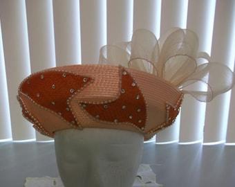 Vintage Ladies Dress Hat Ladies Special Occasion Hat Ladies Church Hat Ladies Formal Hat Wedding Hat
