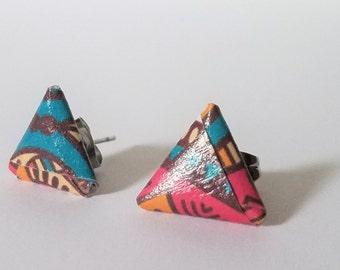 Origami Geometric stud earrings