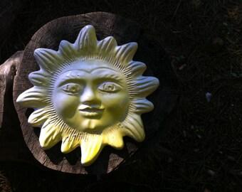 Sun with face ceramic figure | wall decor | Sardinia ceramics