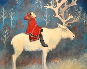 Fine art greeting card ideal for christmas cards fine art greeting card reindeer design ideal for christmas and winter solstice m4hsunfo