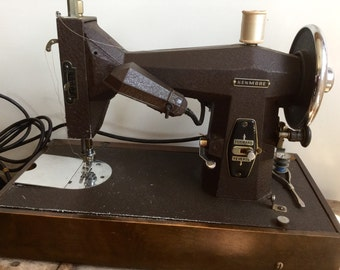 Chocolate Kenmore Sewing Machine Matte Crinkle Finish