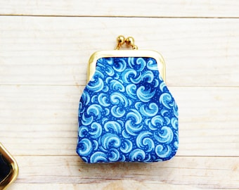 Coin purse 9 opt mini kiss lock tiny wallet pouch clip frame change purse flower dot hippo paisley batik blue green yellow Mother's gift