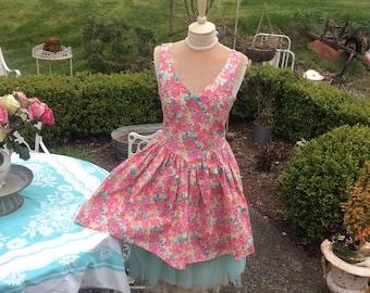 Laura Ashley  Dress Vintage Garden Floral Fairytale Fantasy SALE was 49 now 29!,