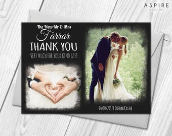 Wedding Thank You Cards With Personalised Photos | Wedding Gift Thank You Cards