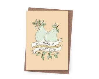 SALE Great Pear Greeting Card - 60% off