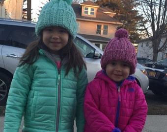 Children's Pom Pom Hat