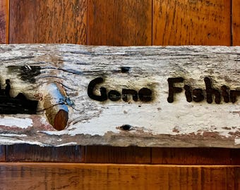 Gone fishing on Barn Wood