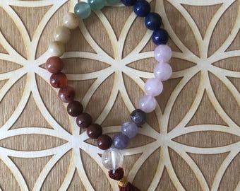 Chakra Power Bracelet - Chakra Beaded Bracelet - 8mm Beads -  All Chakras - Chakra Balancing - Reiki - Energy Healing