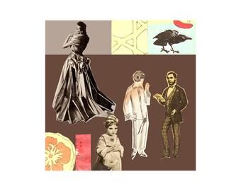 Caprice 2. Open Edition Print. Vintage Theme.