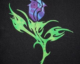 Elegant  Rosebud Quilting Applique Pattern Design