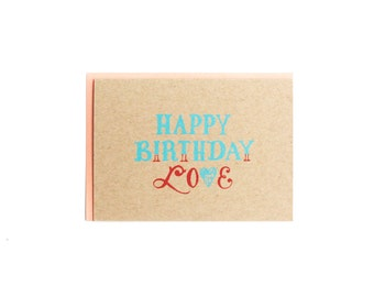 Happy Birthday Love Card