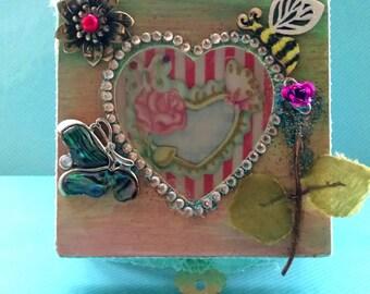 Handmade and Handpainted Vintage Jewellery Box