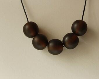 Chunky brown bead necklace, big brown bead statement necklace, large brown bead statement necklace, chunky bead necklace