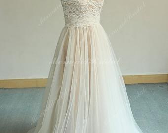 Dark Champagne Wedding Dresses