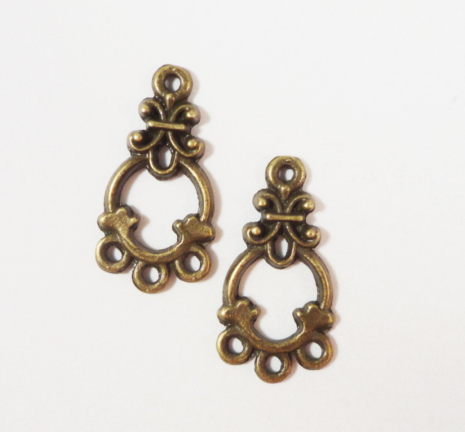 Chandelier earring findings 21x11mm antique brass metal bronze 1 365 shipping arubaitofo Image collections