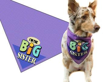 Big Sister Dog Bandana - Dog  Scarf Accessory - Great Dog Gift Idea (Medium to Large) - 46033