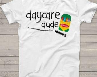 Back to school shirt - boy daycare dude school Tshirt mscl-094