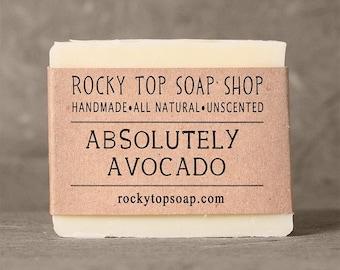 Avocado Soap, Cold Process Soap, Handmade Soap, Artisan Soap, Vegan Soap, Facial Soap, Winter Skin Soap, Moisturizing Soap