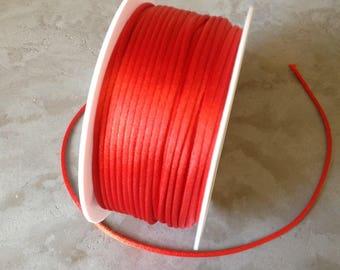 Rat tail, Carmine Red satin cord 2 mm