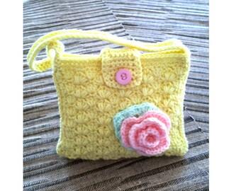 Handbag for children, crocheted bag for kids, handbag girls, children's handbag girls, toddlers