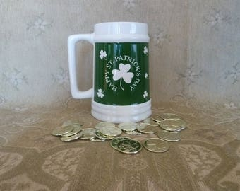 Large st. Patrick's Day Tankard, st. Patrick's Day, kitchen and dining, drink ware
