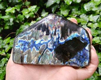 Teal Green Labradorite Freeform, Blue Labradorite Free Form, Teal Labradorite Freeform, Spectralite Freeform, Teal and Purple Labradorite