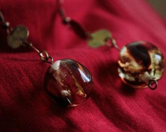 Copper Resin Earrings