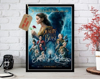 Beauty and the Beast 2017 Emma Watson & Dan Stevens - Signed Autographed Premium Movie Photo Print