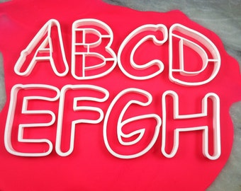 Comic Sans Alphabet Cookie Cutter - SHARP EDGES - FAST Shipping - Choose Your Own Size!