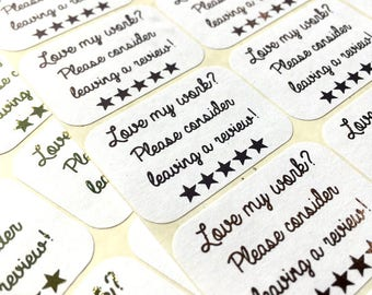 Love my work? Please consider leaving a review! 21 Rectangle Stickers - Perfect for small businesses