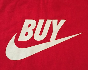 Punk Rock T Shirt, Nike Parody, Anti Consumerism