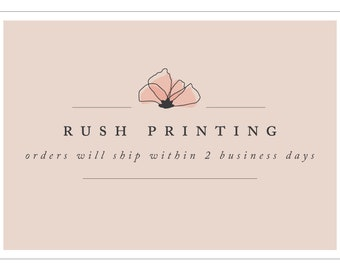 Rush Printing - Orders Ship Within 2 Business Days