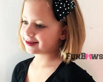 Gorgeous AB Rhinestone Cheer Bow Headband - your colors by Funbows !