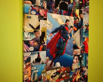 Superman Comic Book Canvas Art
