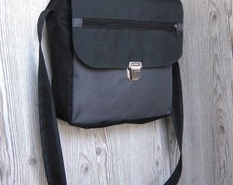 Charcoal grey messenger bag Men Women laptop bag Satchel Crossbody bag Shoulder bag