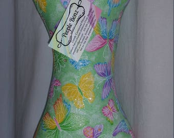 """Comfy Contoured Neck Pillow - """"Glitterfly"""""""