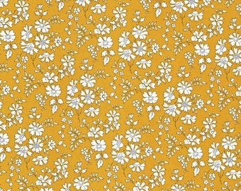 Liberty Fabric Capel G Tana Lawn Fat Quarter Mustard Yellow Floral