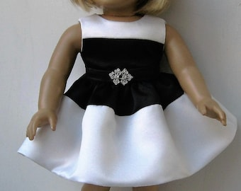 Black & White Dress for American Girl Dolls