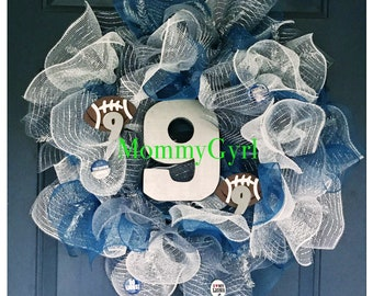 Team Spirit/School Spirit Deco Mesh Wreath
