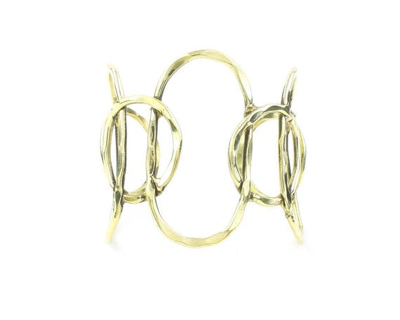 Hammered Circle Bracelet, Pratte Arm Cuff, Geometric, Minimalist, Boho, Bohemian, Gypsy, Festival Jewelry, Modern, Contemporary