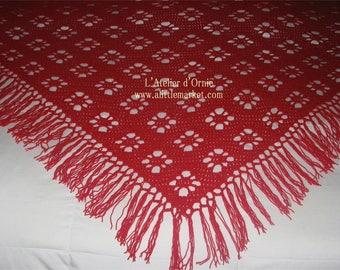 large crocheted shawl