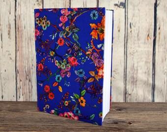 Writing Journal /  Handmade Sketchbook / Handmade Journal / Unique Journal /  Notebook /  Diary /  A5. 8 x 6 inch Blue Flowers