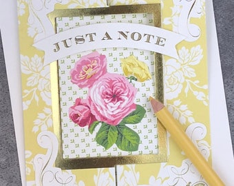 Just a Note - Because You Are Special to Me... Fabulous Flip Action Card