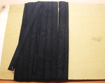Vintage Antique Lingerie Strap Ribbon Black Moire Strapping