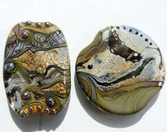 Art Glass, lampwork glass beads, focal beads