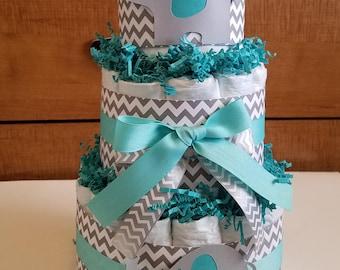 Tiffany diaper cake Etsy